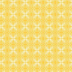 Flamingo Yellow Scroll