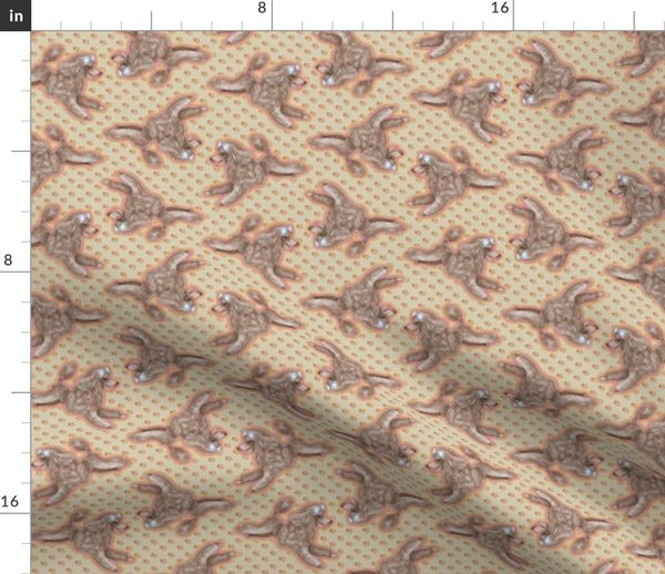Colorful fabrics digitally printed by Spoonflower - Silver Beige Toy Poodle  on Pawprints