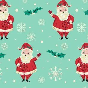 Retro_Waving_Santa