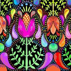 Swedish folk art tulips floral