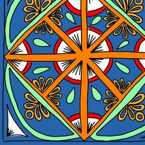 Lapis Lazuli Kaleidoscope Squares - Large
