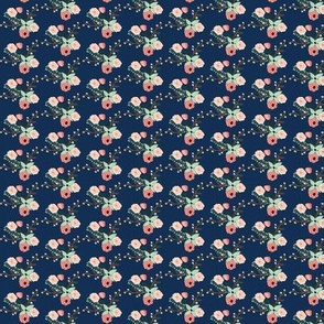 Summer Floral Navy - SMALL VERSION - Navy Floral - Flowers