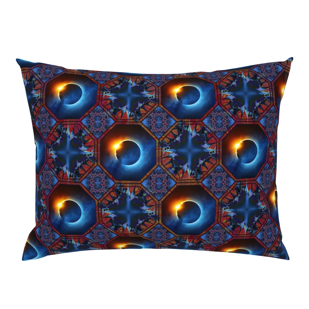Campine Pillow Sham featuring solar_eclips5a by snarets