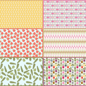 cut_and_sew_fruit_and_vegetable_banane_pomme_rose_orange_endive_courgette_aromate