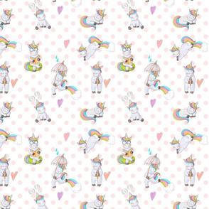 450 dpi Unicorn Rainbow