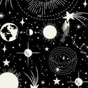 Solar System - Black