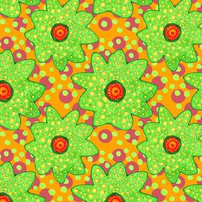 Blooms & Dots in Orange