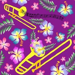 Purple Hawaiian Trombone