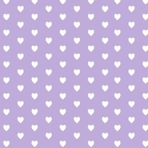 Tiny White Hearts (lilac)