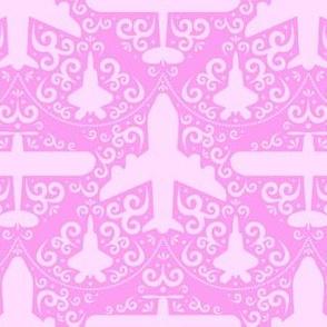 Aircraft Damask (Pink)