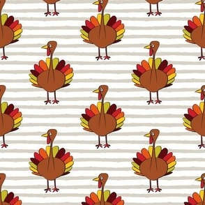 turkey on stripes - thanksgiving day