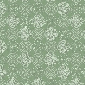 Green Tree Rings - Woodland Critters Coordinate