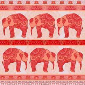 Red baby elephant