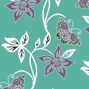 Butterflies & Flowers Virtual Batik_white-eggplant-SAGE_GREYGREEN_160