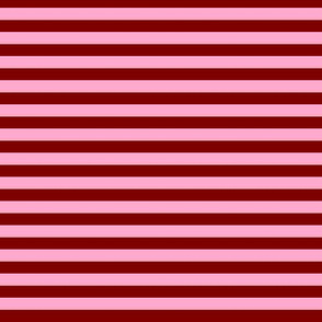 Stripe- Red and pink