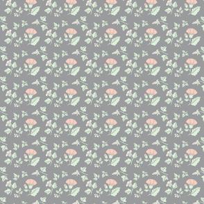 Paper flowers Peach & Grey