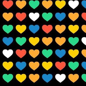 rainbow hearts - small