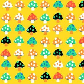 rainbow mushrooms - small