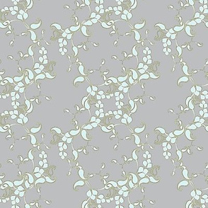 Joan's Antique Moss gray paisley