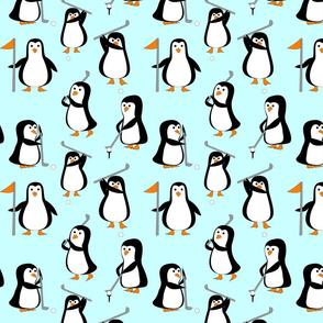 penguin golf ice blue