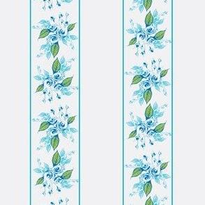 Roses Blue Stripes