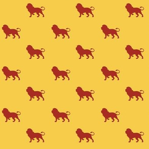 lion house - yellow - potter's world