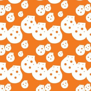 Dots Orange Upholstery Fabric