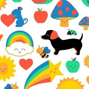 happy rainbow critters
