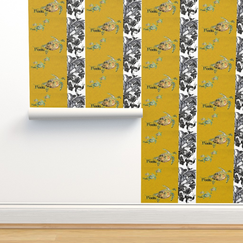 Isobar Durable Wallpaper featuring Honu Saffron Feathers by hunnellekari