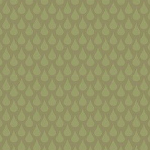 Rain Drops Khaki Fabric