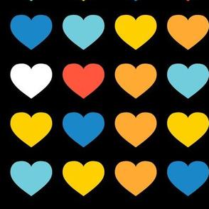 rainbow hearts - large