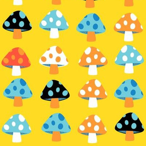 rainbow mushrooms - large