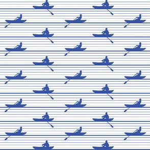 Rowing Stripe Blue and White