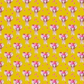 Sweet indian summer bohemian watercolor elephant love  yellow mustard XXS