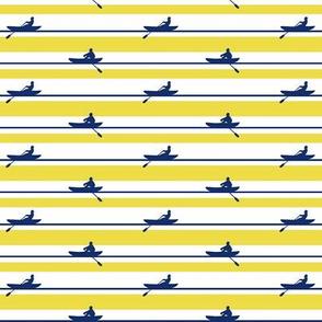 Rowers Stripe navy yellow white