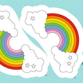 Rainbow Plush Pillow Cut-and-Sew Pattern || plushie nursery baby kids children pride clouds stars dorm