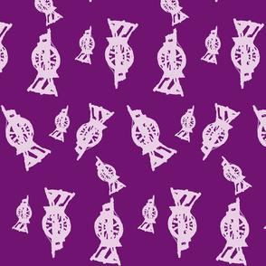 Spinning Wheels-purple resist