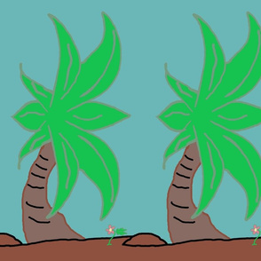 Palms in rows