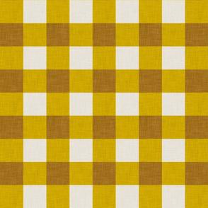 gingham mustard
