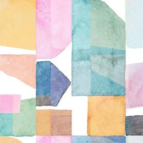 Watercolor abstract blocks