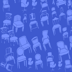 chair and chair alike/sapphire