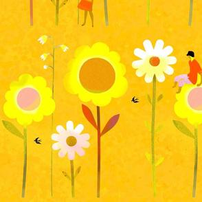 Big Flowers 2 Yellow XL