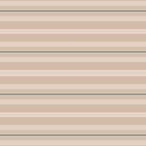 Beige and Green Horizontal Stripe