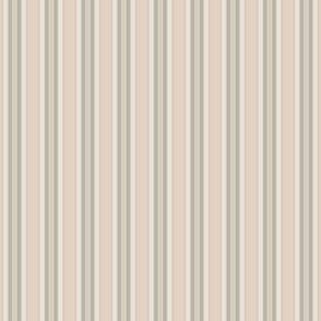 Green and Beige Vertical Stripes