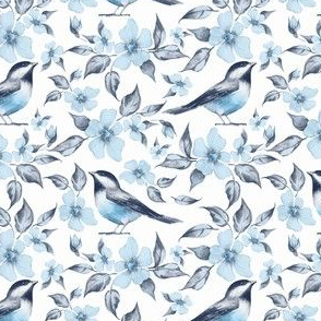 Blue pattern with birds