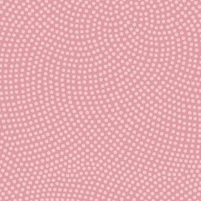 Fibonacci-flower polkadots - hyacinth pink