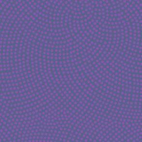 Fibonacci-flower polkadots - jazz navy and purple