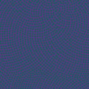 Fibonacci-flower polkadots - green on purple