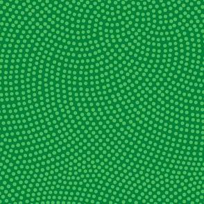 Fibonacci-flower polkadots - spearmint green