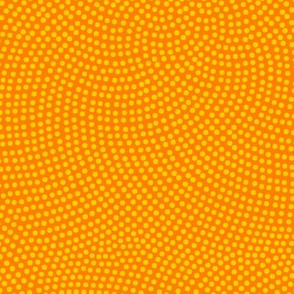 Fibonacci-flower polkadots - saffron and yellow